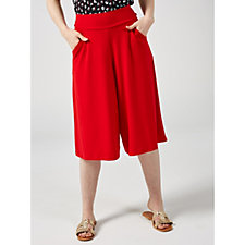 164760 - Kim & Co Brazil Knit Gaucho Trousers with Pockets