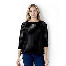 MarlaWynne Illusion Striped Sweater