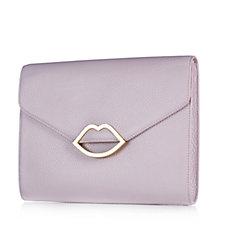 Lulu Guinness Leila Grainy Leather Medium Handbag