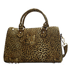 Butler & Wilson Leopard Head Fabric Bag with Crossbody Strap
