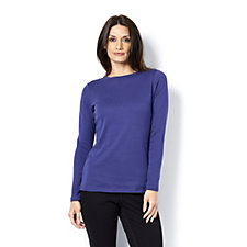 Isaac Mizrahi Live Essentials Long Sleeve Top