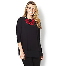MarlaWynne Chiffon Trim Matt Jersey Box Top
