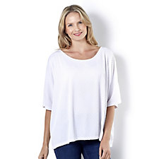 Join Clothes Textured Grown On Sleeve Top