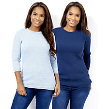 161361 - 2 Pack of Knitted Tops by Nina Leonard