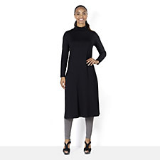 Yong Kim Modal High Neck Long Line Tunic with Split Sides
