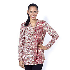 Together Paisley and Floral Print Blouse