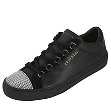 Skechers Street Rhinestone Vamp Leather Cupsole Lace Up Trainer