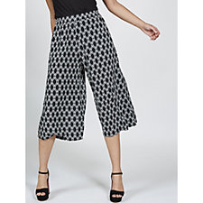 Join Clothes Trellis Print Cuff Trousers