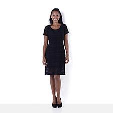 Ronni Nicole 'O So Slim' Stretch Lace Cap Sleeve Scoop Neck Dress
