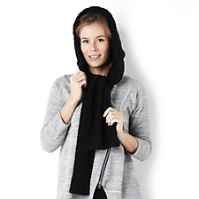 Muk Luks Hooded Scarf with Faux Fur