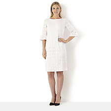 Tiana B 3/4 Bell Sleeve Lace Dress