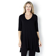 Join Clothes Jersey Tunic with Drape Pocket