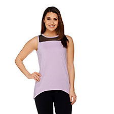 158262 - AnyBody Loungewear Mesh Trim Tank Top
