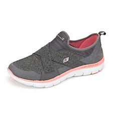Skechers Flex Appeal 2.0 Mesh Cross Strap Slip On Shoe with Memory Foam