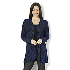 Glitter Palm Waterfall Cardigan by Michele Hope