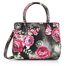 Butler & Wilson Faux Leather Flower Print Shoulder Bag