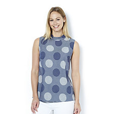 Ronen Chen Nara Circles Twill Top