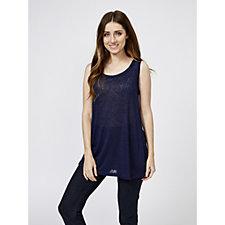Kim & Co Linen Look Knit Sleeveless Tunic