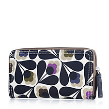 Orla Kiely Matte Laminated Sycamore Seed Big Zip Wallet