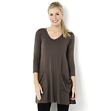 Yong Kim Modal V Neck 2 Pocket Tunic