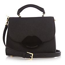 Lulu Guinness Saffiano Leather Small Izzy Satchel Bag