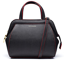 136163 - Lulu Guinness Saffiano Leather Small Paula Bag with Strap & Contrast Edging