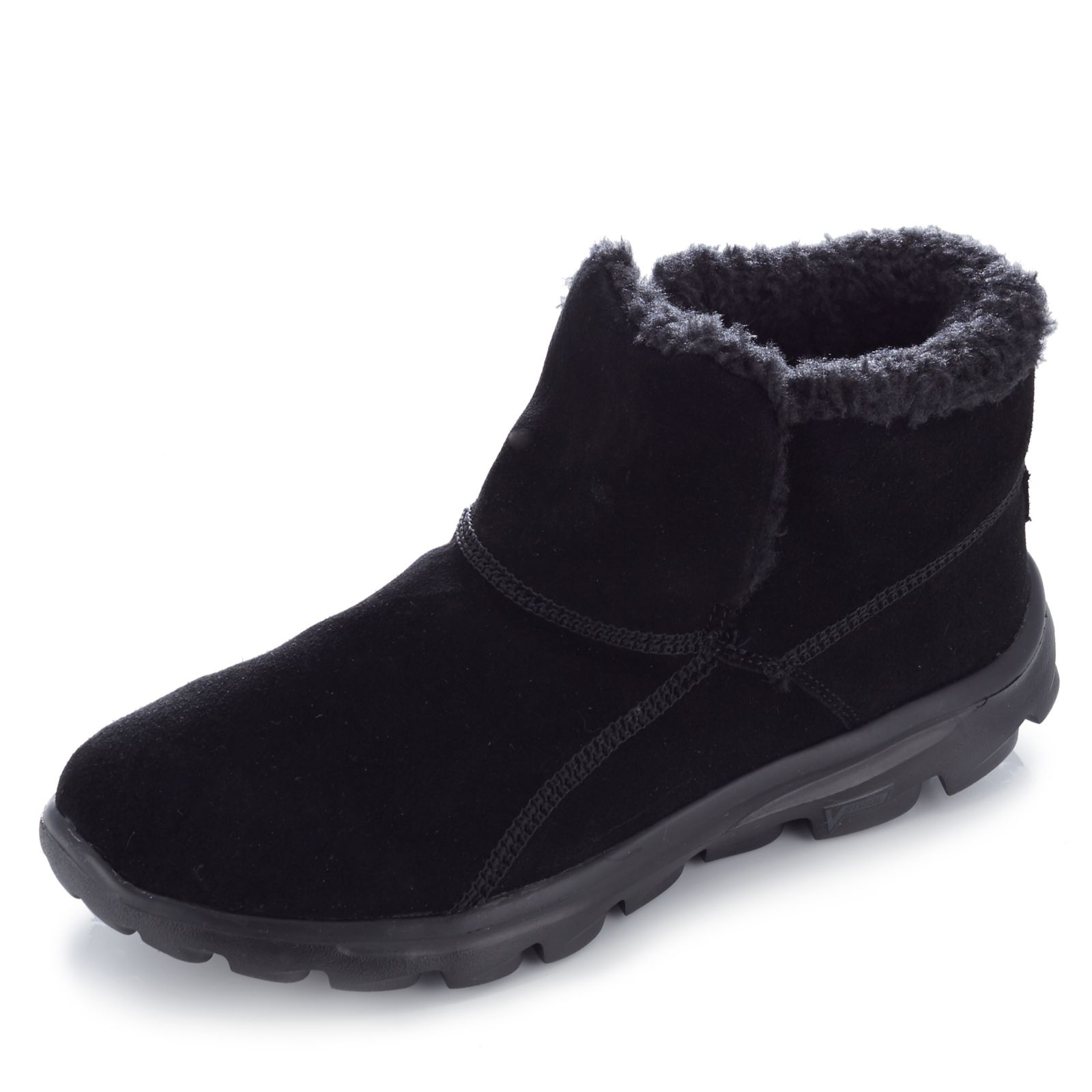 sketchers black boots. skechers on the go chugga suede ankle boot with memory foam - page 1 qvc uk sketchers black boots