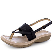 157563 - Country Jack Patrice Toe Post Sandal with Stretch Top and Crystal Detail