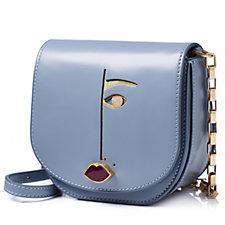 Lulu Guinness Amy Small Dora Face Polished Leather Handbag