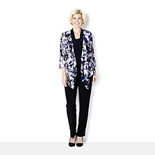 Attitudes by Renee 3 Piece Set with Chiffon Printed Jacket