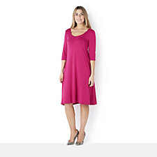 Join Clothes Seam Detail Tunic Dress with Pockets