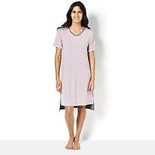 Cuddl Duds Short Sleeve Printed Nightgown