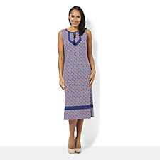 C. Wonder Printed Lace Trim Dress
