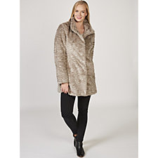Rino & Pelle Ripple Effect Faux Fur Coat