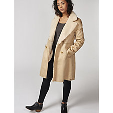 Rino & Pelle Faux Suede Bonded Coat