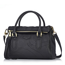 Aimee Kestenberg Xander Leather Zip Top Satchel Bag