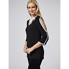 170663 - Andrew Yu Tunic with Contrast Trim Detail
