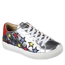 Skechers Street Star Side Embroidery Leather Lace Up Trainer