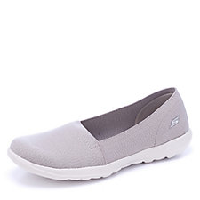 171363 - Skechers GOwalk Life Smitten Heathered Elastic Skimmer Slip On Trainer