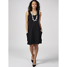 MarlaWynne Ponte Front Pocket Sleeveless Dress