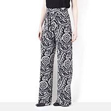 Tie Front Printed Trouser by Nina Leonard