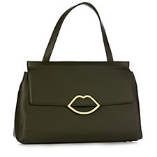 Lulu Guinness Gertie Large Grainy Leather Handbag