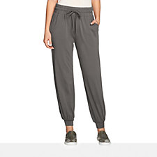 158264 - AnyBody Loungewear Cropped Banded Jogger