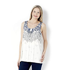 Together Lace Butterfly Print Vest