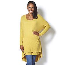 Layered Hem Knitted Tunic by Michele Hope
