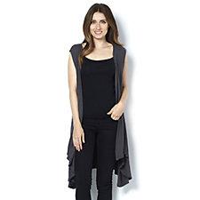Join Clothes Rib Jersey Waterfall Waistcoat