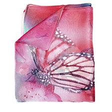161364 - Butler & Wilson Butterflies Print Silk Scarf