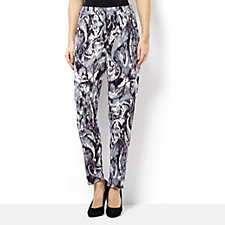 Grace Marble Print Elasticated Pull on Trouser