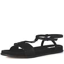 163264 - Clarks Agean Cool T Bar Sandal with Ankle Strap