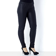 Outlet Diane Gilman Faux Leather Stretch Skinny Jegging